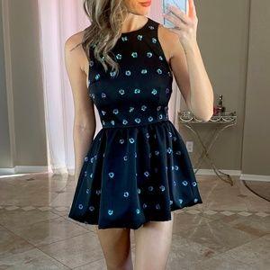 Keepsake the Label Black Sequin Fit Flare Dress